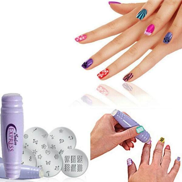 Diy Nail Art Kit Salon Express Professional Easy Stamping Nail Diy
