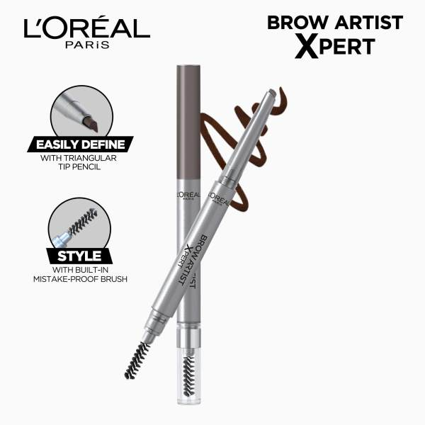 Brow Artist Xpert 2-in-1 Brow Pencil- 108 Warm Brunette by LOréal Paris Brow Artist Philippines