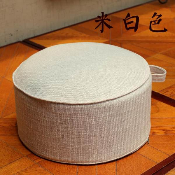 Washable Flax throw pillow Tatami Extra High Thick Futon Floor Stool Teapoy Table Terrace/Patio Bay Window Fabric Coaster
