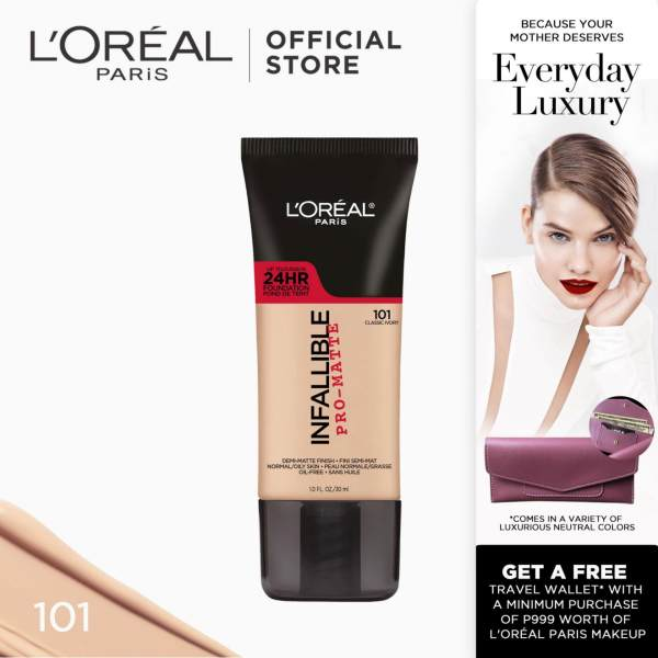 Infallible Pro-Matte Liquid Foundation - 101 Classic Ivory [#NeverFail 24HR Longwear] by LOréal Paris Philippines