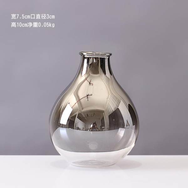 Moge Silver Glass Small Vase