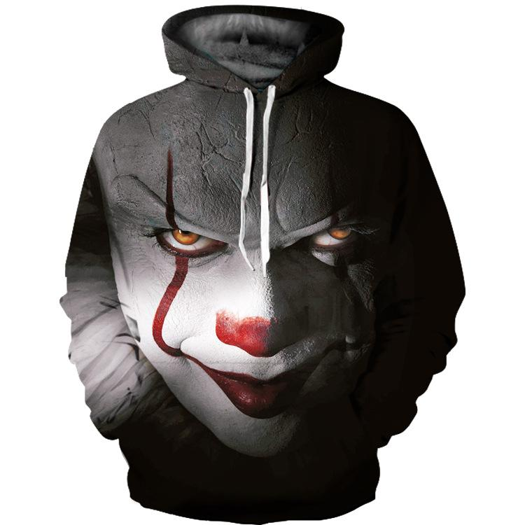 Long Sleeve Blood Eyes Hoodie Coat