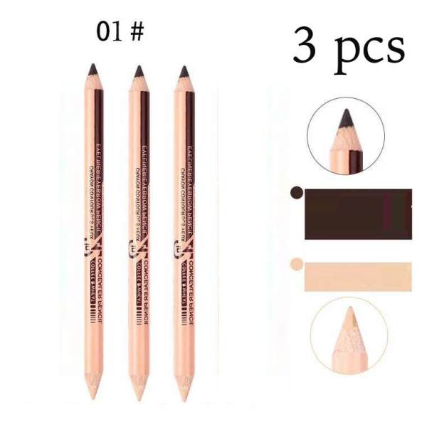2in1 Eyeliner/Eyebrow and Concealer Pencil (3 pieces) Philippines