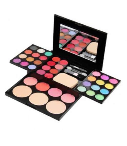 Color Make Up Palette Brush Pen Tool Makeup Set/ 24 Eyeshadow + 4 Blusher+ 3 Powder Puff + 8 Lipstick + Mirror Philippines