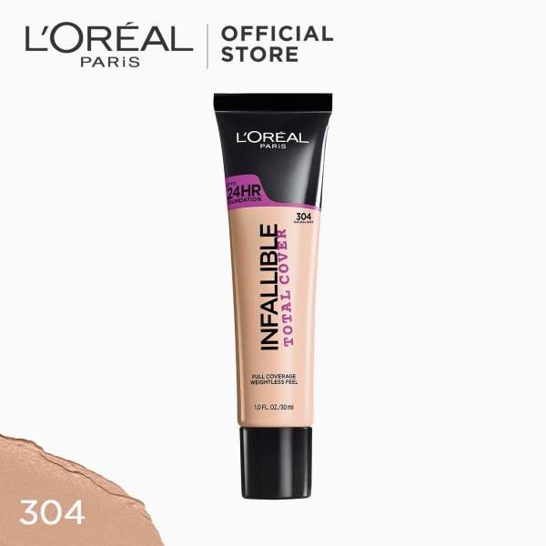 Infallible Total Cover Liquid Foundation - 304 Natural Buff [#GotItCovered 24HR Full Coverage] by LOreal Paris Mothers Day Philippines