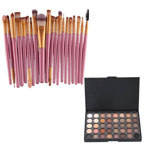 20PCS Eyeshadow Brush WITH FREE 40PCS Eyeshadow Palette #1 Philippines