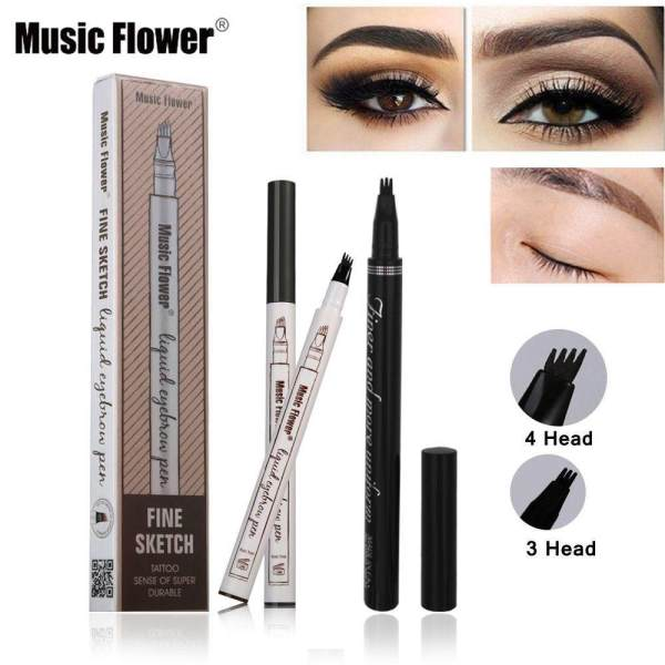 Music Flower Brand Makeup Fine Sketch Liquid Eyebrow Pen Waterproof