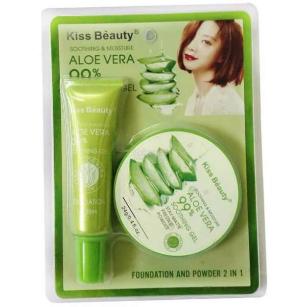 Kiss Beauty Aloe Vera Foundation and Powder  2 in 1 Philippines