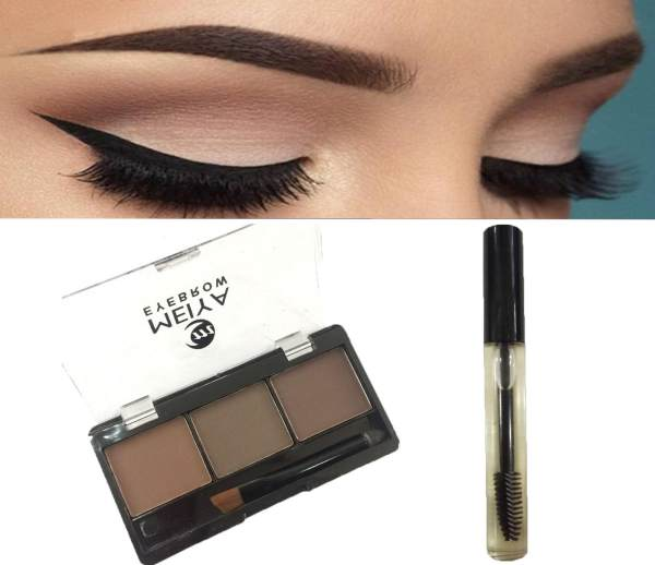 3 Colors Perfect Brow Eyebrow Makeup Palette #02 FREE 12mL Castor Oil (39g) Philippines