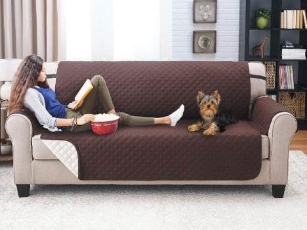 3 Seater Deluxe Quilted Cat Dog Sofa Cover Couch Slipcover Water Resistant  Settee Armchair Mat Pet ...