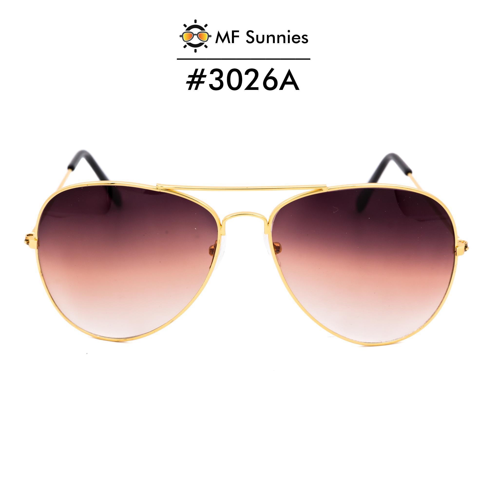 e781f48fa12 MFSunnies Sunnies Classic Aviator Gradient lens Metal Frame Fashion eyewear  Gradient Brown  3026A