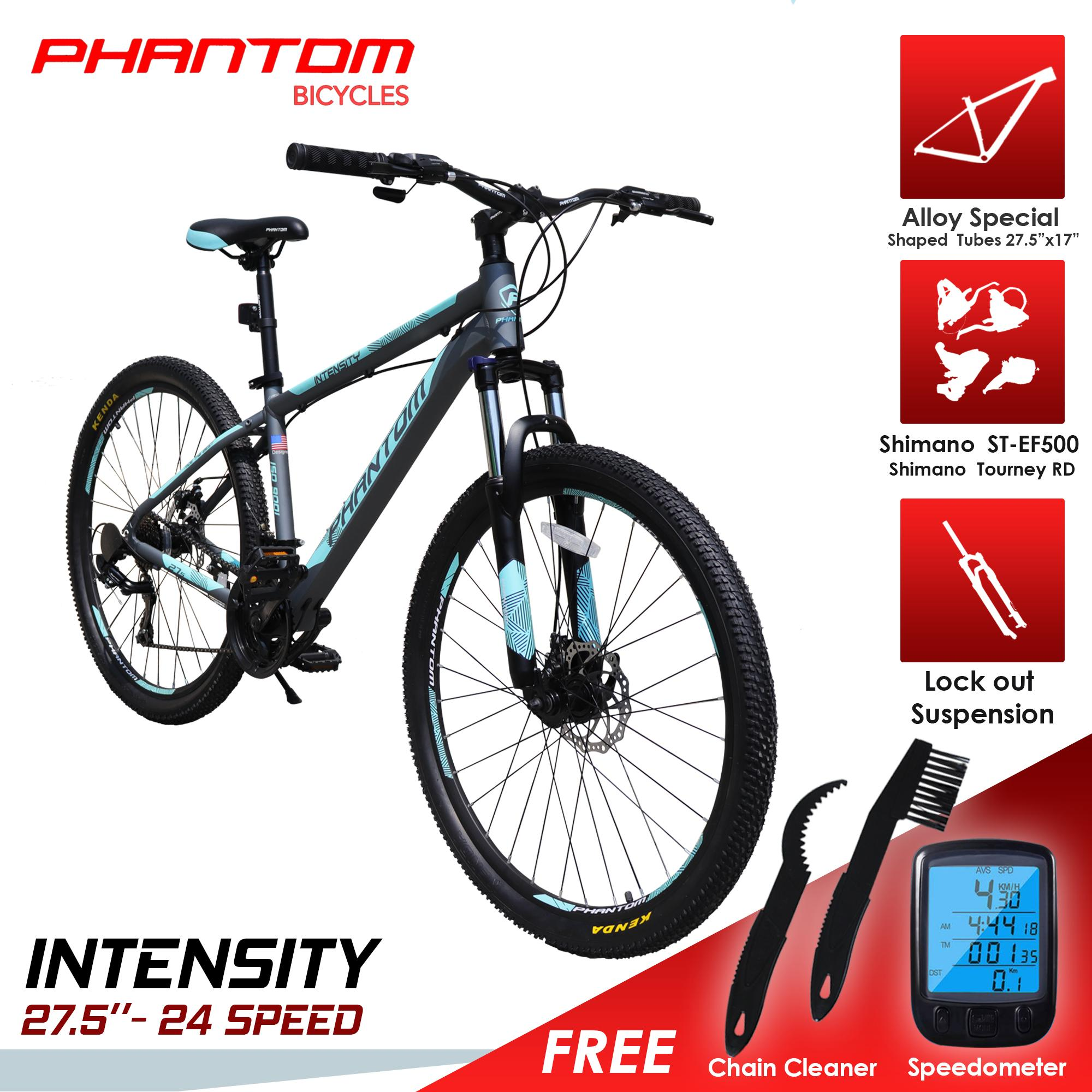 """7c73788e5dd PHANTOM INTENSITY 27.5""""- 24 SPEED ALLOY FRAME with FREE WIRELESS  SPEEDOMETER and 2 in"""