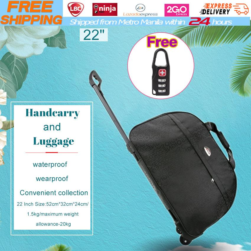 1931f55ae0  Free Luggage Lock 2018 New Trolley Bag Commercial Travel Fashion Luggage  Bags 22inch Rolling Duffle Bags Waterproof Shopping Travel Suitcases for  Girls ...