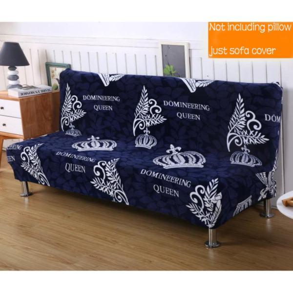 155 195cm Elasticity Folding No Handrail Slipcover #18 Dark Blue Sofa Cover  (not Including Pillow)   Intl Philippines