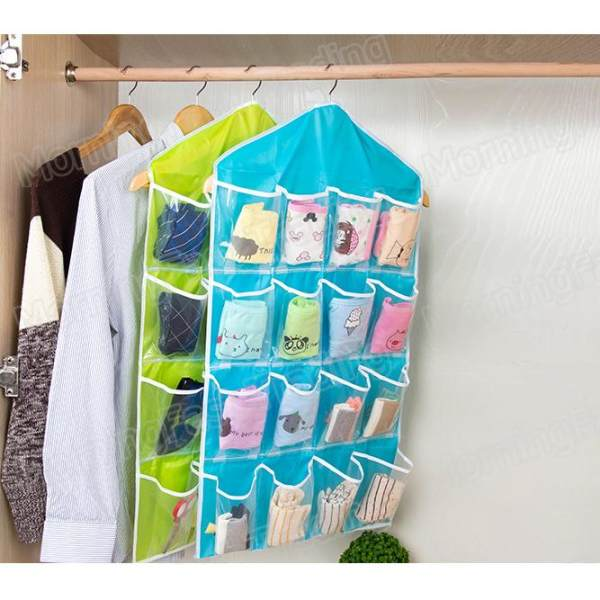 Pocket Clear Door Closet Hanging Bag Clothes Storage Bag for Shoes
