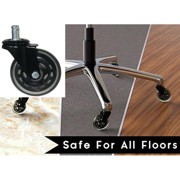 3 Inch Office Chair Caster Wheels Heavy Duty U0026 Safe For All Floors   Intl  Philippines