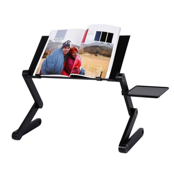 Adjustable Multi Function Ergonomic Mobile Laptop Foldable Table Stand Bed  PC Tray Laptop Folding Desk With ...