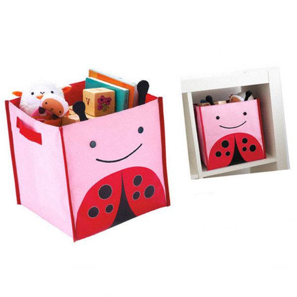 Animal Zoo Toy Storage Bin Kids Box Organizer Chest Collapsible Fabric  Container (Ladybug)   Intl Philippines