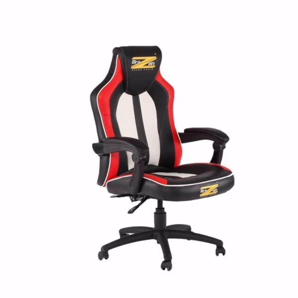 BraZen Stealth 4.0 Bluetooth PC Gaming Chair {Black/Red/White} Philippines