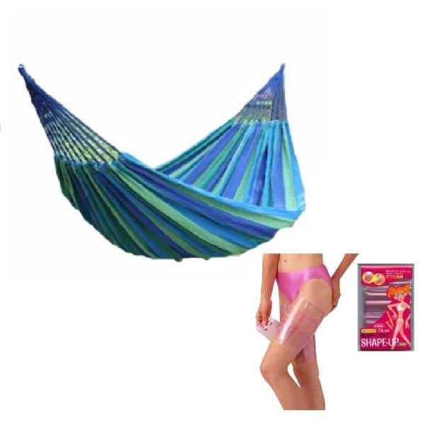 colorful canvas hammock duyan hanging sleeping bed color may vary
