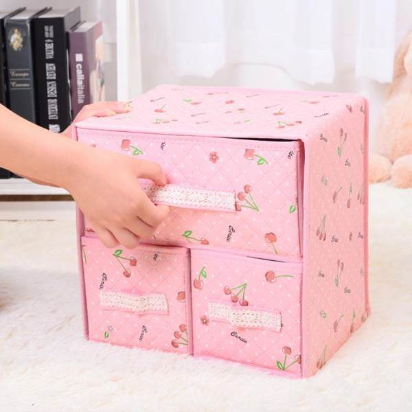 Factory Direct Selling Bra Underwear Storage Box Double Layer Drawer Type  Storage Box Cosmetic Clothes Finishing ...