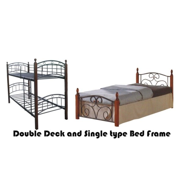 Hapihomes Android Double Deck Bed with Thani (Single)36x75 Bed Frame ...