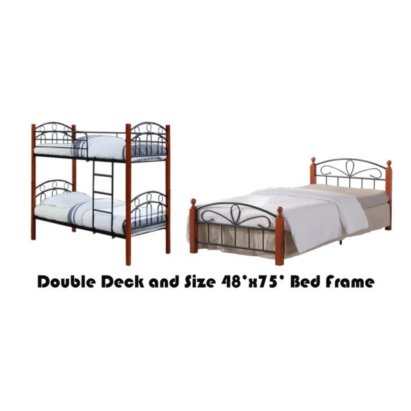 Hapihomes Asteroid Double Deck Bed with Paris (Double) 48x75 Bed ...