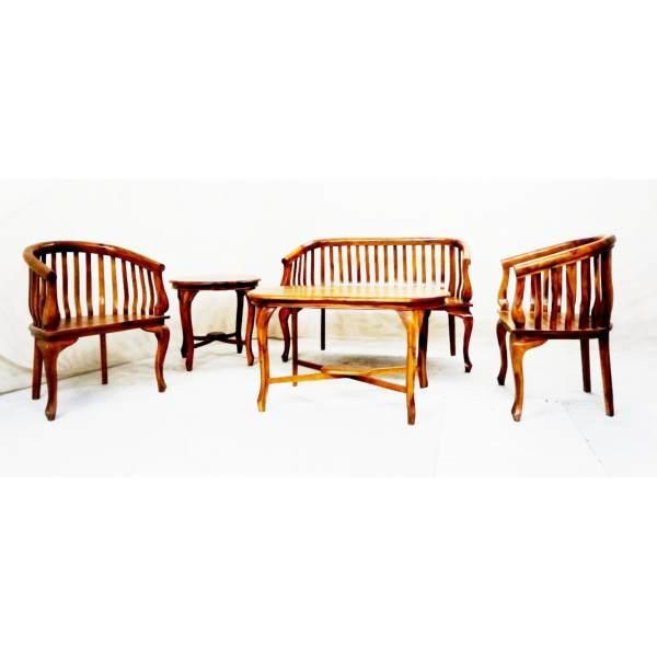 Teak Handcrafted Solid Wood Lenong Sofa Living Room Furniture
