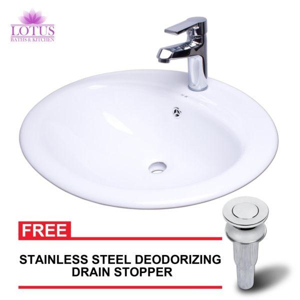 Deodorizing Kitchen Sink Drain