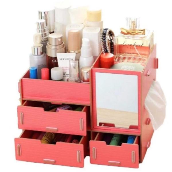Multifunction Wooden Drawer Style Makeup Cosmetics Jewelry Storage Box Case Rack Organizer (Pink) Philippines  sc 1 st  Furniture Philippines & Multifunction Wooden Drawer Style Makeup Cosmetics Jewelry Storage ...