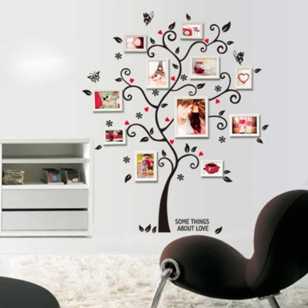 New Black Tree Wall Decal Sticker Family Quote Photo Frame Home ...