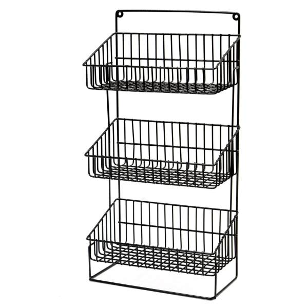 Plastic Coated Utility Basket 3L Multi Purpose wall mounted Rack ...