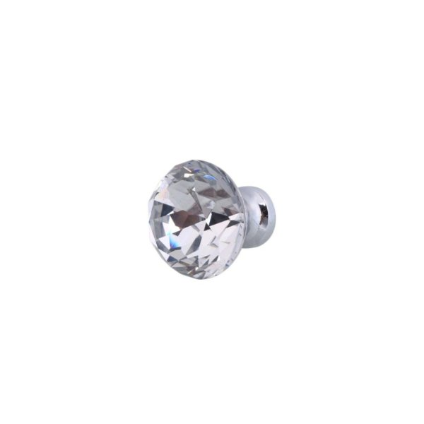 Round Crystal Cabinet Knob Cupboard Drawer Pull Handle Closet Door Knob    Intl Philippines