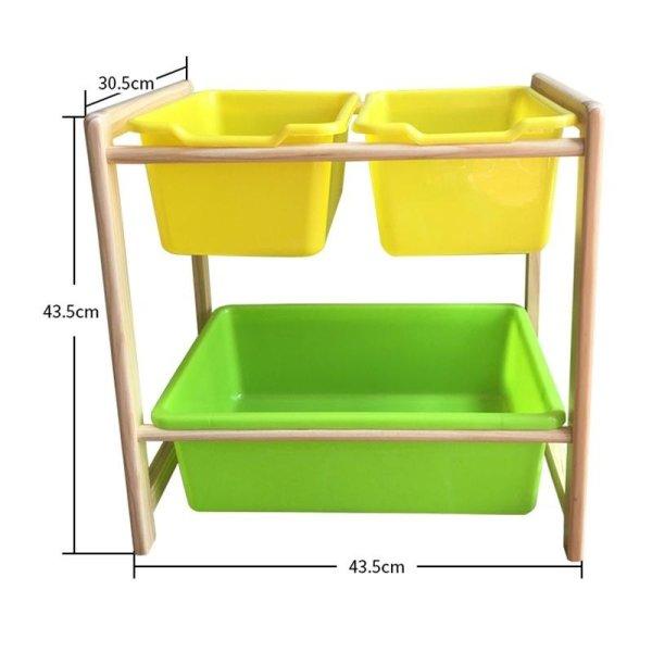 RuYiYu   43.5 X 43.5 X 30cm, Kids Toy Organizer And Storage Bins,3 Bins In  Fun ...