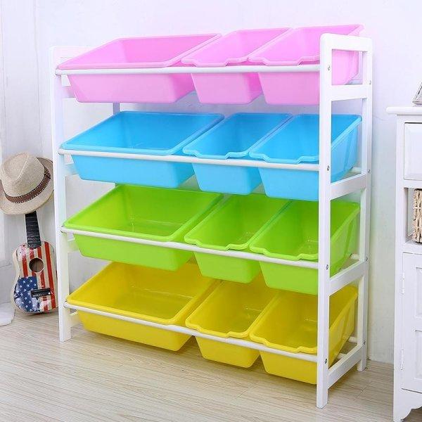 RuYiYu - 84X 28 X 80cm Kids Toy Organizer and Storage Bins 12-Bins in Fun Colors ... & RuYiYu - 84X 28 X 80cm Kids Toy Organizer and Storage Bins 12-Bins ...