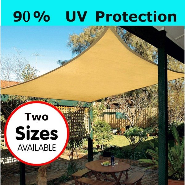 Sun Shade Sail Garden Patio Party Sunscreen Awning Canopy 98 UV Block Rectangle 43
