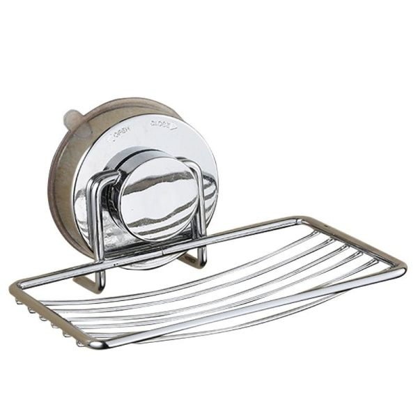 SunnyShopSoap Dishes, Stainless Steel Soap Holder Basket With Strong  Suction Cup, Wall Mount Bathroom Accessories ...