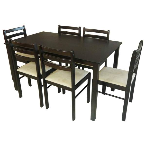 Tailee Starter 6 Seater Rubber Wood Dining Set With Cushion Seat Philippines