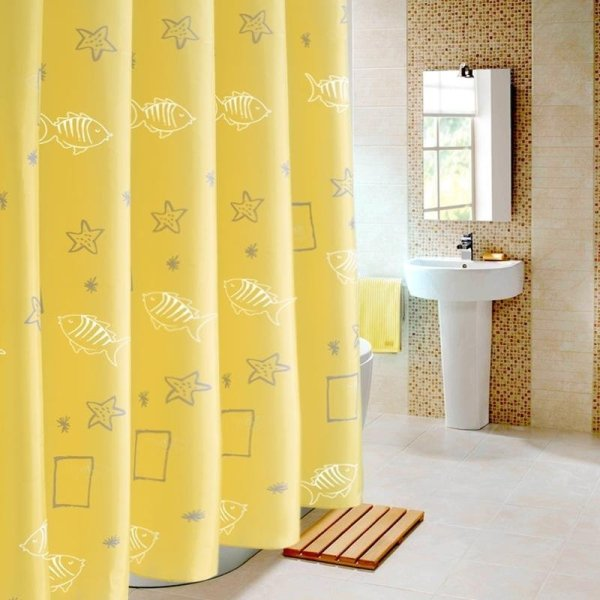 Waterproof Bathroom Shower Curtain Mold Opaque Padded Polyester ...
