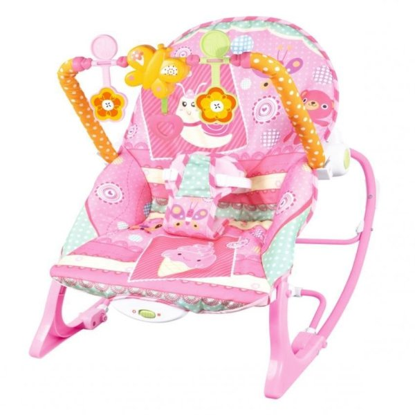Zover Baby Infant To Toddler Rocking Chair/features Soft Toybar With 3 Fun  Toys With Machine ...