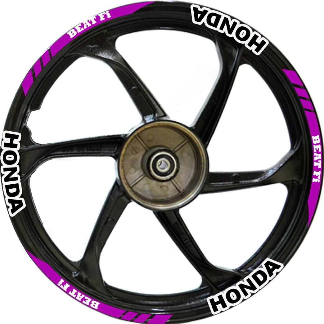 Stickers for honda beat fi magenta pair front and rear