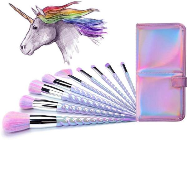 10 PCS Ammiy Unicorn Makeup Brushes Set with Case Philippines