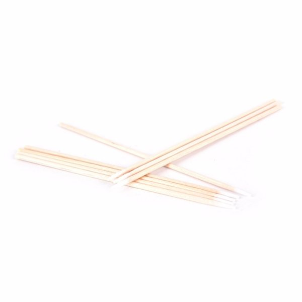 100Pcs Disposable Tip Swab Cotton Buds Applicator Wooden Swabs Clean Sticks Buds 7.5CM - intl Philippines