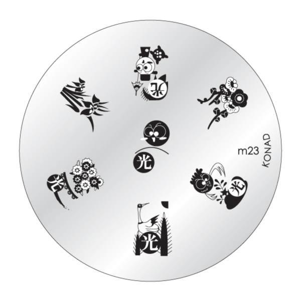 IMAGE PLATE m23 KONAD STAMPING NAIL ART (Original from korea ...