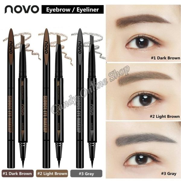 Candy Online Korea Novo 2 In 1 Waterproof Eyebrow Eyeliner Pencil