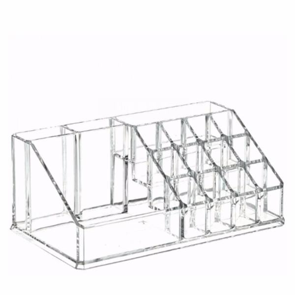 High Quality Clear Acrylic Cosmetic Makeup Storage Organizer Box Lipstick Stand Holder  Display Rack Make Up Brush Eyeshadow Nail ...