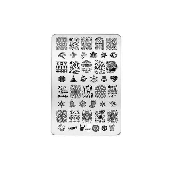 Diy Nails Art Image Stamp Stamping Plates Manicure Template Manicure