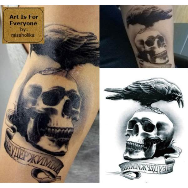 Expendables Logo - Art Is For Everyone! by:missholika Premium Quality 3D Temporary Tattoos LC-802 Philippines