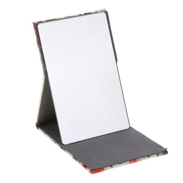 Foldable Pocket Portable Stainless Steel Rectangular Makeup Mirror (Multicolor) - intl Philippines