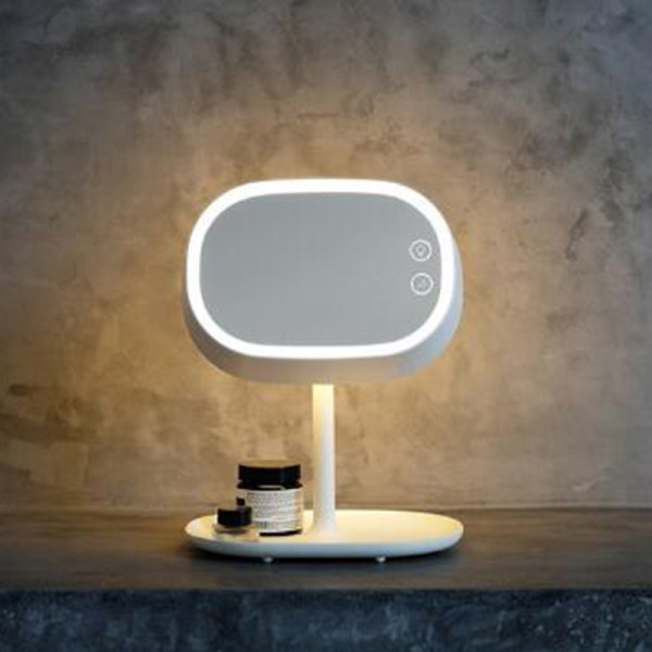 Grace Fashion Make-up Mirror  LED Desk Lamp Portable Storage Mirror  (Light Green) - Intl Philippines